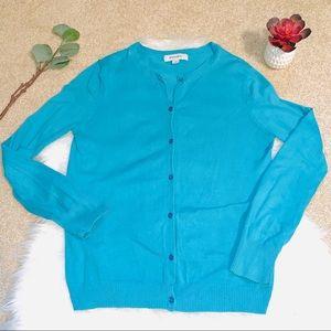 Merona turquoise blue cardigan sweater